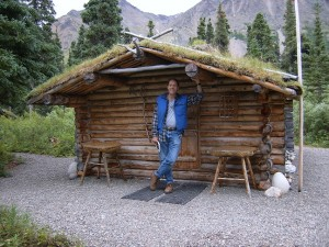 Proenneke's Log Cabin on Twin Lakes Alaska