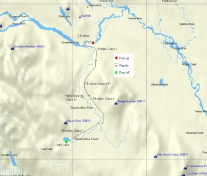 Talachulitna River Map